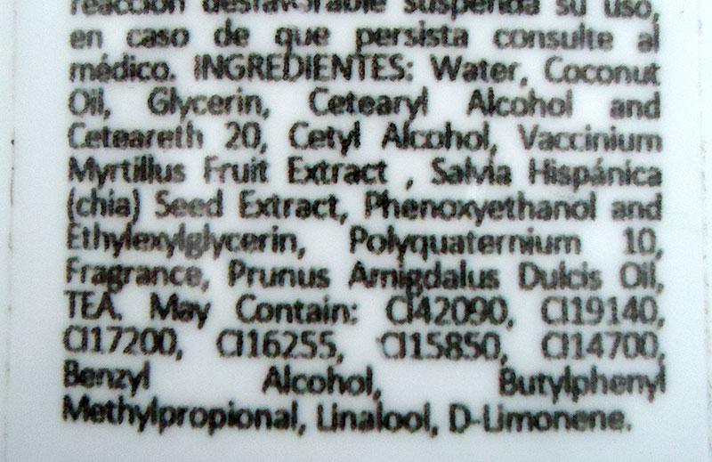 ingredientes crema corporal arandanos frenzzi