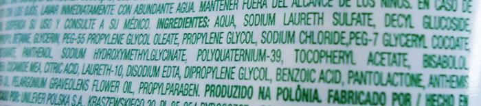 Ingredientes del limpiador humectante de Simple