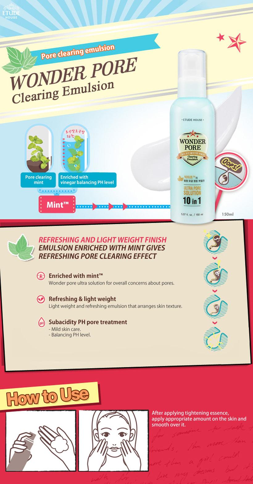 Wonder Pore Tightening Essence 50ml How to use description Ingredients