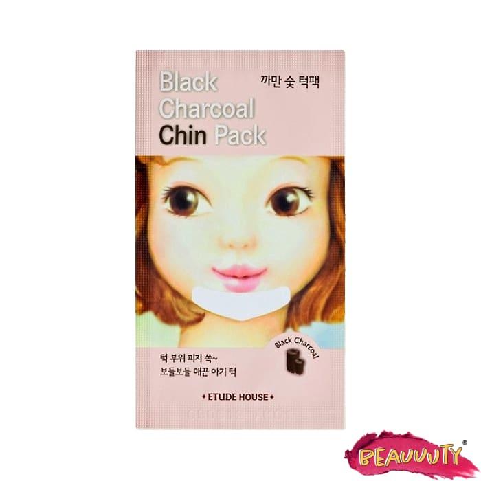 Black Charcoal Chin Pack x5
