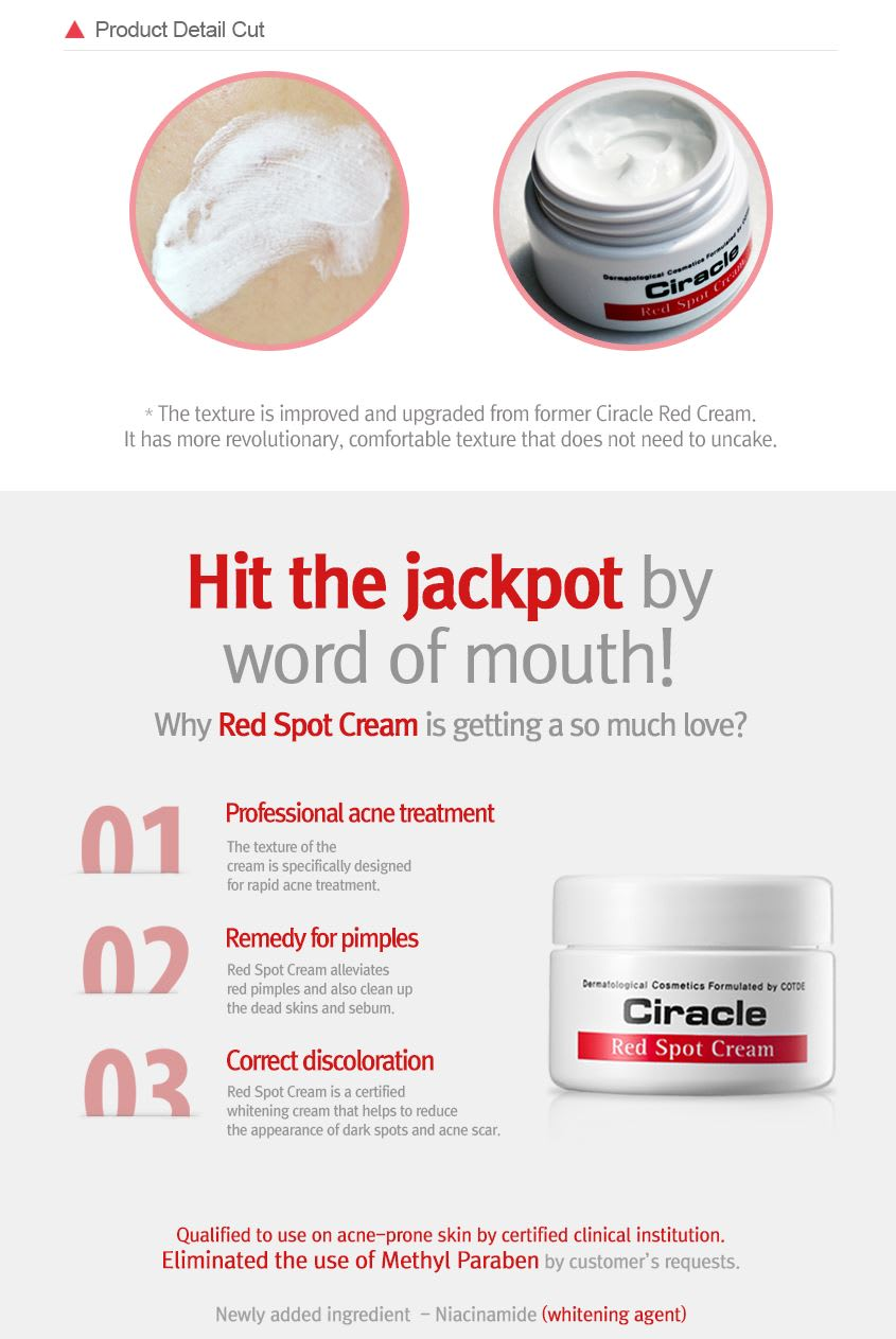 How to use Red Spot Cream 30ml