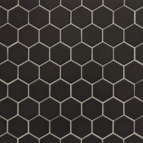 Le Café Black hex backsplash