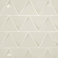 Triangolo 5x5 ceramic tile in glossy Fog