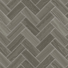 "Highland 1""x4"" porcelain herringbone mosaic in Dark Greige"