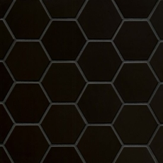 Hedron 4x5 ceramic wall tile in Matte Black