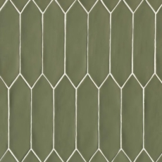 Reine 3x12 ceramic wall tile in Castle Moss Green