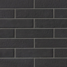 Urbanity 2.5x10 porcelain tile in Black