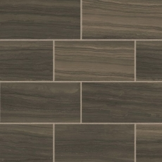 Highland 12x24 porcelain tile in Cocoa