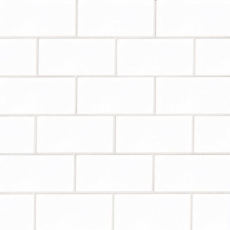 Provincetown 3x6 subway tile in Porch White