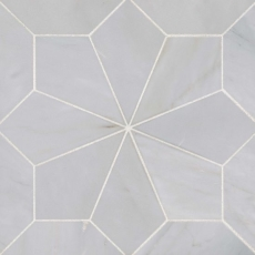 Blomma Honed Marble Mosaic in Grigio