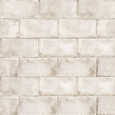 Vivace 4x9 pressed porcelain field tile in Rice gloss