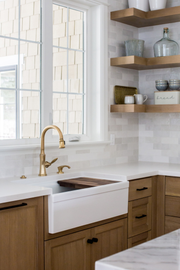 "Cloe 2.5""x8"" ceramic tile in White; Designer: LSL Design Co; Builder: Millhaven Homes; Photographer: Lindsay Salazar Photography"