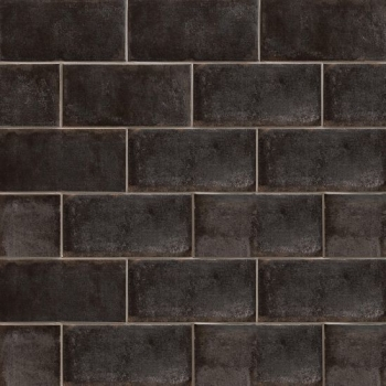 Vivace 4x9 pressed porcelain field tile in Caviar gloss