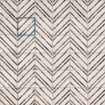 Vivace 4x4 pressed porcelain deco tile in Incline Rice matte