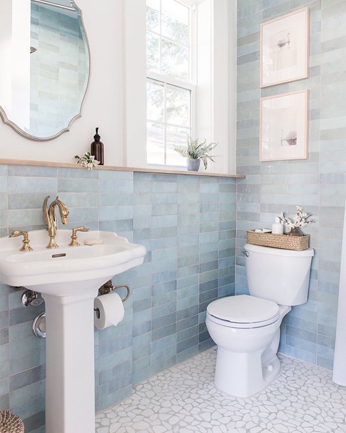 Cloe 2.5x8 ceramic tile in Baby Blue