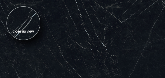 Magnifica Porcelain slab in polished Nero Marquina