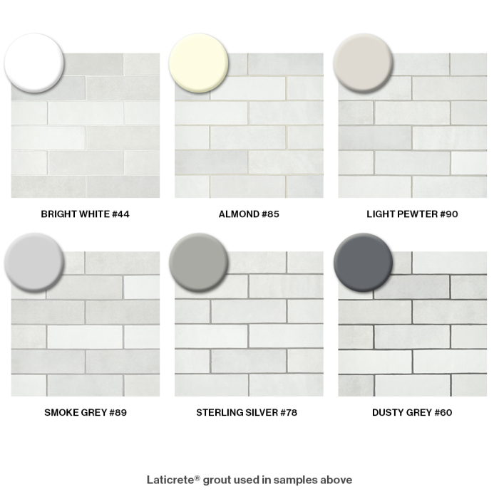 Bedrosians Grout Color Recommendations for Cloe in White