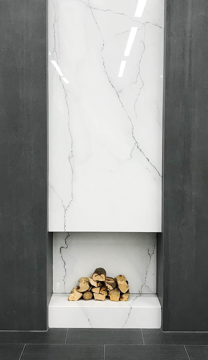 Magnifica Porcelain 60x120x6mm panel in polished Lincoln Super White
