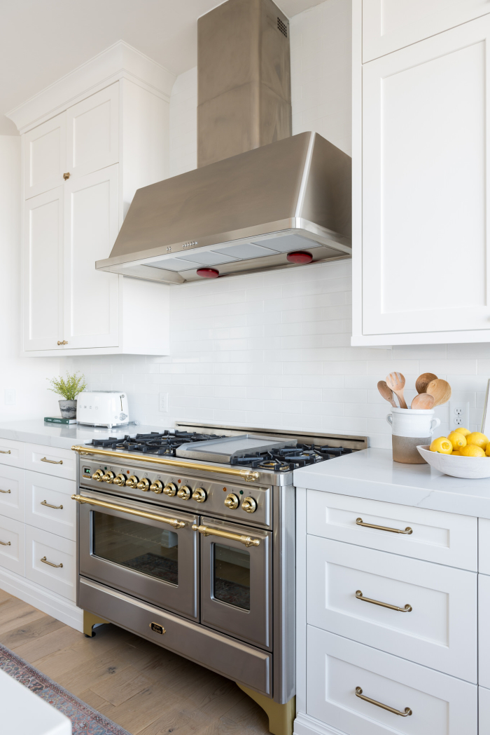 Christine Andrew of Hello Fashion Kitchen Reveal - above the stove backsplash