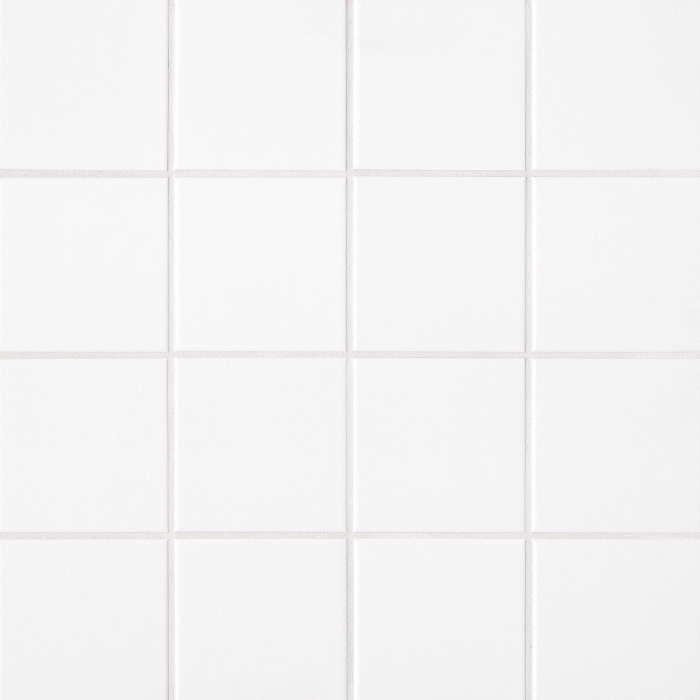 Traditions 6x6 ceramic wall tile in Ice White Matte
