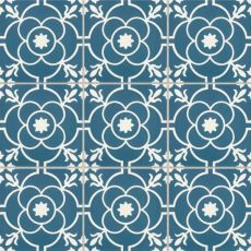 Remy 8x8 cement tile in Brigette