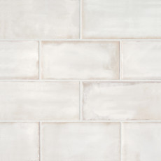 Chateau 4x8 ceramic wall tile in Canvas