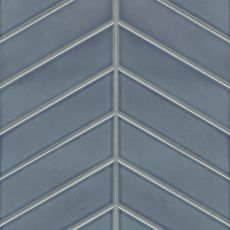 Provincetown ceramic chevron tile in Harbor Blue