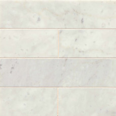 White Carrara 3x12 marble subway tile