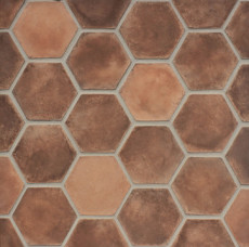 Avondale 8x8 cement Hexagon Matte Smooth Brick in Normandy Cream