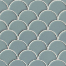 Costa Allegra Ceramic Wave Mosaic in Tide