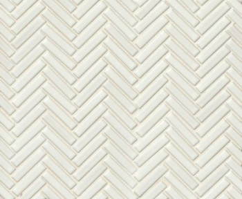 90 porcelain herringbone mosaic in White