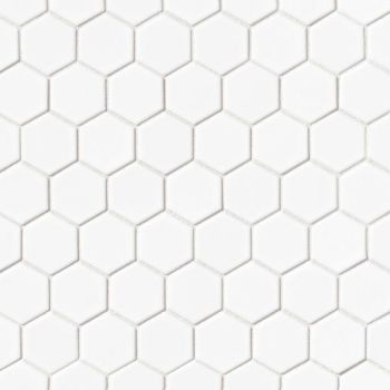 Le Cafe 2x2 porcelain hexagon in matte White