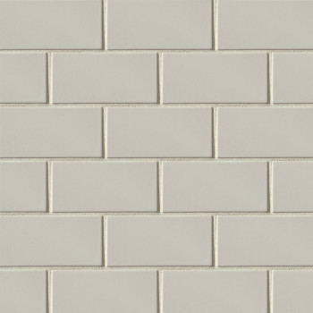 "Costa Allegra 3""x6"" ceramic subway tile in Cinder"