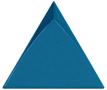4.5x5 Triangolo ceramic wall tile in Gloss Electric Blue