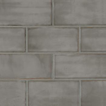Chateau 4x8 ceramic wall tile in Smoke
