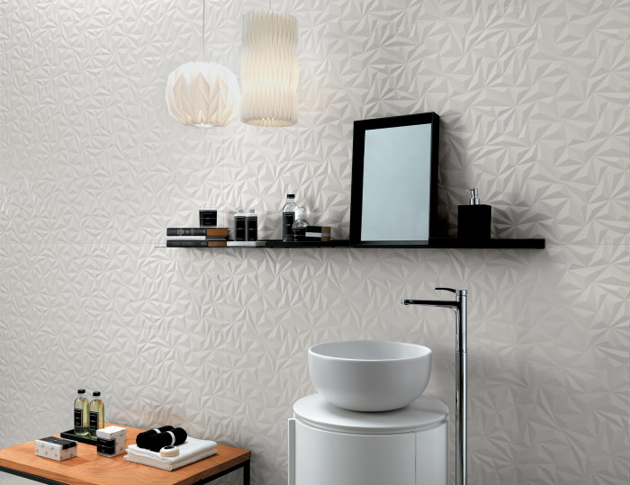 Shape ceramic wall tile in the Angle pattern