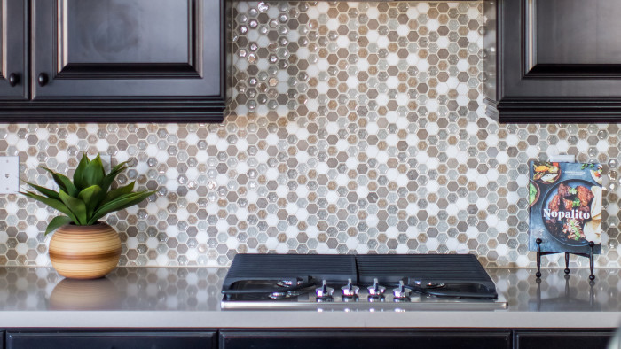 Kismet hexagon mosaic in the Serene pattern