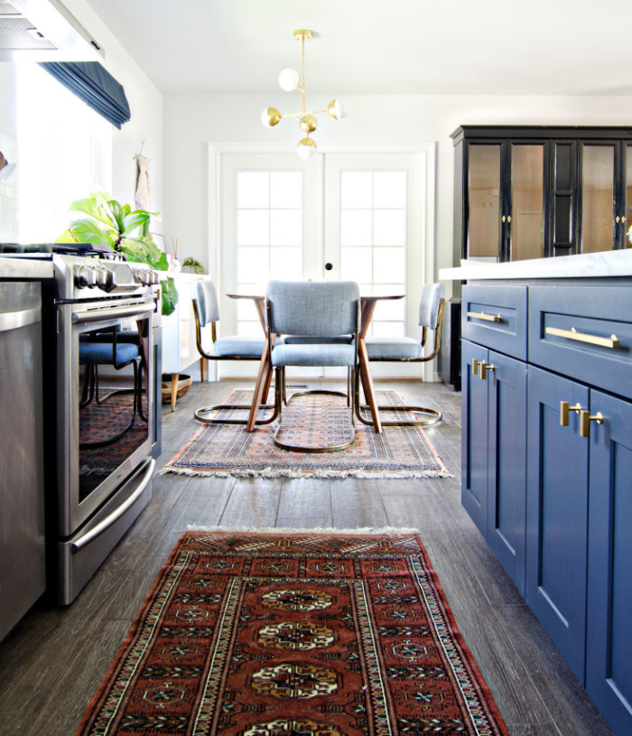 brittanyMakes - Navy, Gold, White Kitchen Reveal