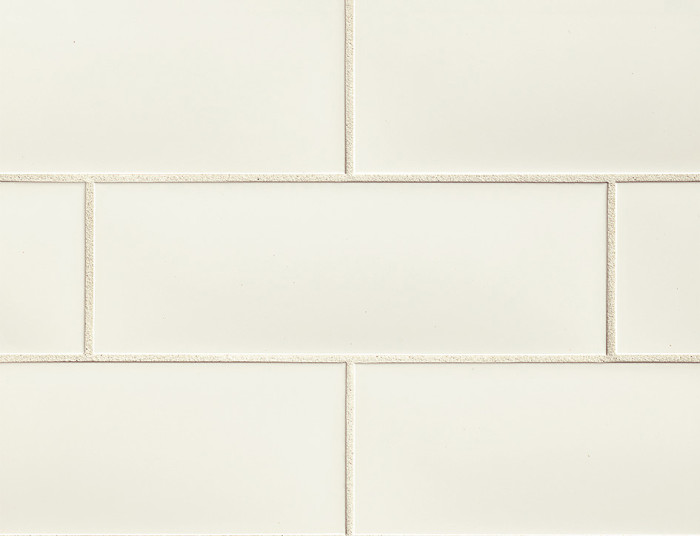 Grace 4x12 ceramic wall tile in Bianco