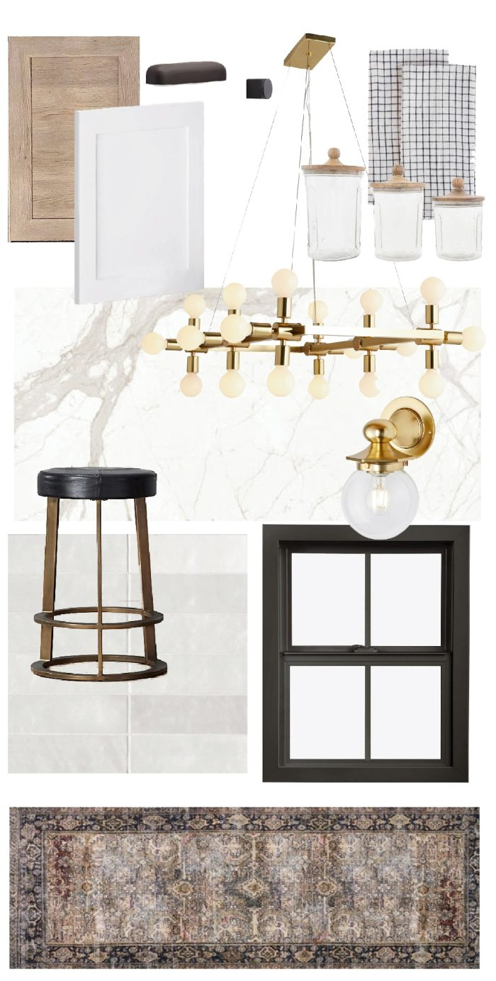Julia's mood board for the Fullmer's new kitchen