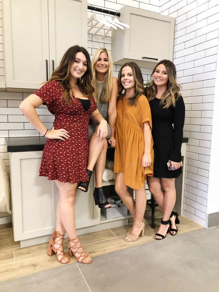 L-R: Bianca Paonessa, Jr. Creative Designer | Coco Nicholas, Interior Designer | Brooke Keeney, Social Media Manager | Jen Whitaker, Project Manager