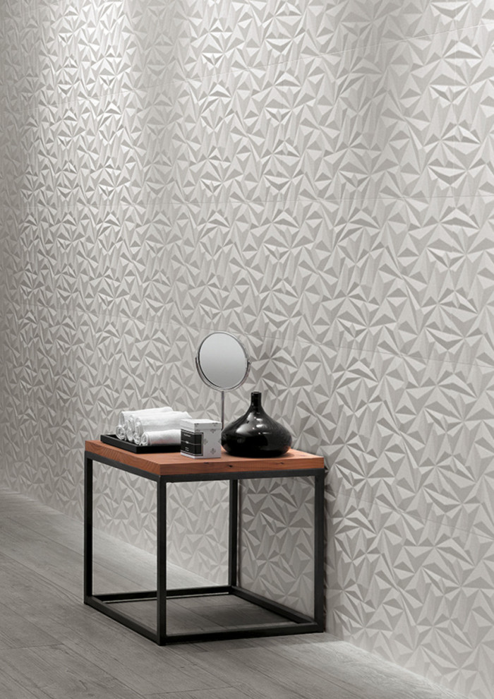 Shape 16x32 ceramic dimensional wall tile in the Angle pattern