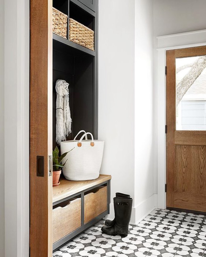Striking Mudroom by Chip and Joanna Gaines