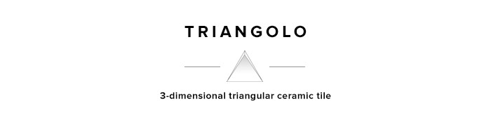 Triangolo 3-dimensional triangle ceramic tile