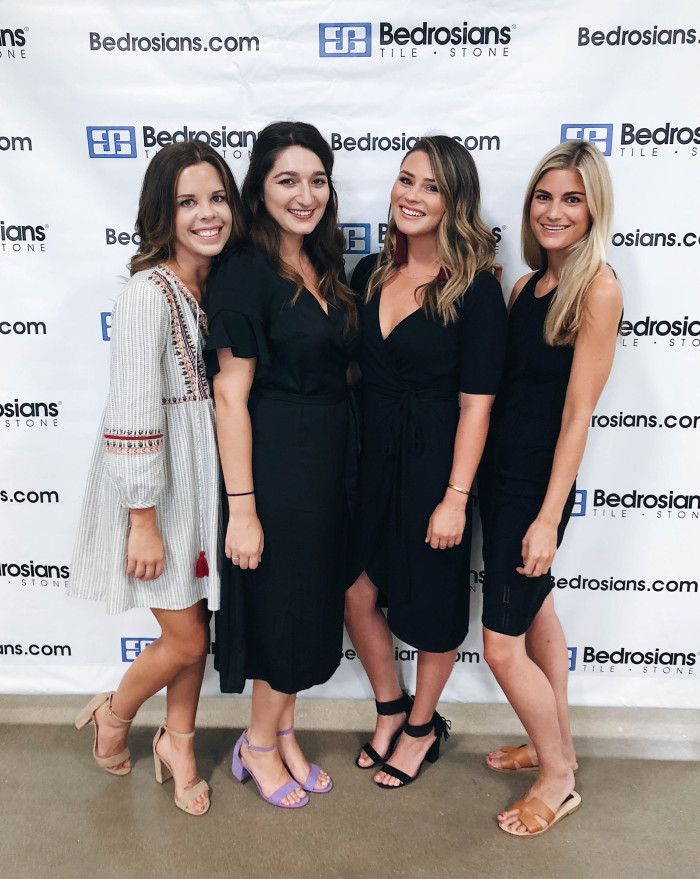 L-R: Brooke Keeney, Social Media Manager | Bianca Paonessa, Jr. Creative Director | Jen Whitaker, Project Manager | Coco Nicholas, Interior Designer