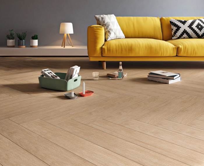 "Woodmark 6""x36"" wood-look porcelain in Oak"
