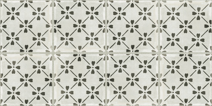 Palazzo porcelain 12x24 Bloom Deco in Castle Graphite