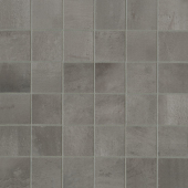 Chateau 2x2 porcelain mosaic in Smoke
