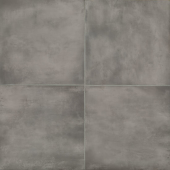 Chateau 24x24 porcelain floor tile in Smoke