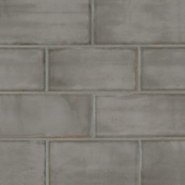 Chateau 4x8 ceramic wall tile Smoke
